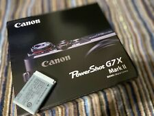 Brand new Canon PowerShot G7 X Mark II Digital Camera with an extra battery