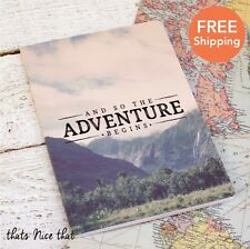 A5 The Adventure Begins Notebook Gift Sketch Book Journal Diary Travel Map Fun