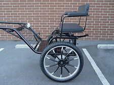 """Horse Carriage, 2 wheel buggy, 49"""" Wide Wheel Size 25"""" Navy"""