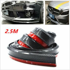 2.5m Car Front Bumper Lip Splitter Spoiler Wing Body Kit Protector Carbon Fiber