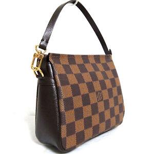 Auth Vintage Louis Vuitton Damier Trousse Pochette Hand bag Pouch N51982 SP0010