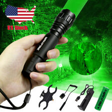 Red Green Light LED Hog Night Hunting Flashlight Rifle Scope Mount+Switch IN US
