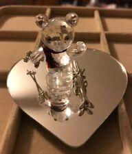 Swarovski Crystal Kris Bear Skiing Retired - Box, Display Mirror, Figure, Skis