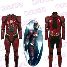 Justice League The Flash Red Deluxe Halloween Cosplay Costume One-Piece Jumpsuit