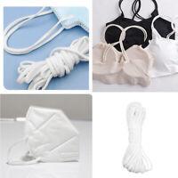 2.5/3/4mm Wide Elastic Cord Waist Band Black White Trimming Sewing Dressmaking