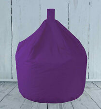 Children's Kids Adult Extra Large XL Purple 100% Cotton Fully Filled Bean Bag