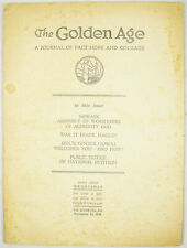 Golden Age Magazine #448 Nov 18 1936 MANY CARTOONS! Hitler Watchtower Jehovah
