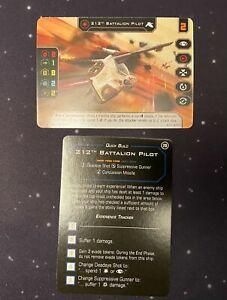 2x 212th Battalion Pilot full art 2020 G20XB X-Wing Miniatures Game Star Wars