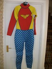 Smith & Brooks Wonder Woman Full Wetsuit 2.5mm Neoprene Ladies SIZE 10 DC Comics