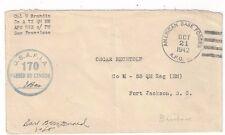 1942  Army Base Forces, APO #923 Brisbane Australia, USAFIA Censor