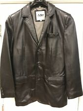 Adler Authentic Mens NZ Lambskin Leather Jacket Sz 42 Black Lined 3 Button Coat