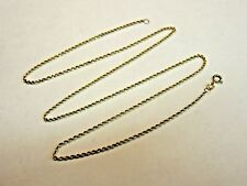"14k Solid Yellow Gold Rope Chain Necklace 19"" 2.5 Grams"