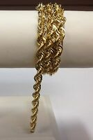 "14k SOLID Gold ROPE Pendant link Chain/Necklace 22"" 4 mm 30 grams (SR030)"