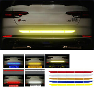 Car Auto Reflective Warn Strip Tape Bumper Safety Stickers Decal Accessories DIY