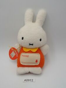 "Miffy A0912 Rabbit Bunny Sekiguchi Keychain Mascot Plush 6"" Toy Doll Japan"