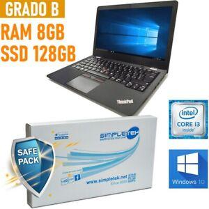 "NOTEBOOK LENOVO THINKPAD I3 7100U 13,3"" RAM 8GB SSD 128GB WINDOWS 10."