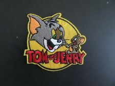 Tom & Jerry Red & Yellow Embroidered Iron On Patches 3 X 3