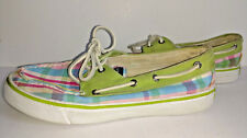 SPERRY TOP SIDER Deck Boat Shoes Womens Size 7M 7 M Medium Plaid