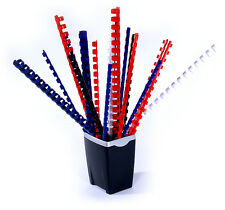 40 Binderücken schwarz SET mit 32 - 38 - 45 - 51mm, Plastikbinderücken Sortiment
