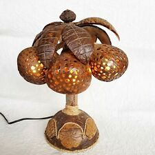Table Lamp Shades Palm Tree Coconut Shell Night Light Wood Shade Wooden Natural
