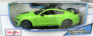 Ford 2020 Mustang Shelby GT500 Maisto Special Edition Scale 1:18 Lime Green Car