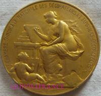 MED11983 - MEDAILLE ART NOUVEAU - DECORATEURS & TAPISSIERS 1948 par PILLET