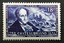 FRANCE CHATEAUBRIAND CHATEAU DE COMBOURG TIMBRE NEUF N° 816 **  MNH 1948    B4