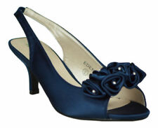 Kitten Satin Patternless Slingbacks for Women