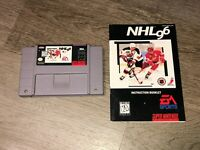 NHL 96 w/Manual Super Nintendo Snes Cleaned & Tested Authentic