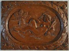 Bois sculpté bas relief ancien Chêne décor Femme Eve Ecole de Fontainebleau ?