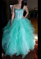 Prom Dress- Blue And White- Size 6- Princess Dress- Ball Gown-Beautiful