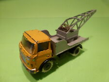FJ FRANCE JOUET BERLIET GAK - CRANE TRUCK - GREY YELLOW 1:55? - GOOD CONDITION