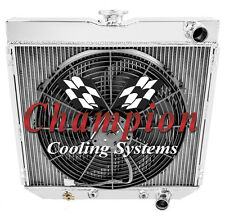 """3 Row 1962-1970 20"""" Small Block Ford Champion Radiator and 16"""" Cooling Fan"""