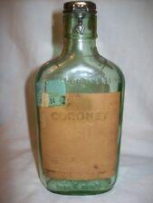 Vintage Coronet Schenley Brandy Half Pint Bottle '33-'34 Minnesota Liquor Stamp