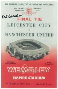 Paddy Crerand Manchester United 1963 FA Cup Final Signed Programme Cover replica