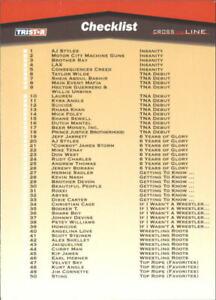 2008 TriStar TNA Cross The Line #100 Checklist