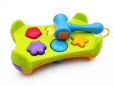 Baby Shape Sorter Hammer Bench & Blocks Play Set Pounding Game Toddler Kids Toy