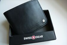 """SWISS GEAR Leather Billfold WALLET NEW IN BOX Cards Notes """"Makers of Army Knife"""""""