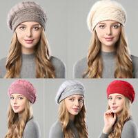 de coton double couche béret hiver chapeau chaud les filles en capsules beanie