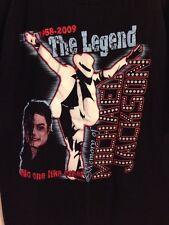 Black T-Shirt Michael Jackson The Legend In Memory Men's XL 100% Cotton SS Crew
