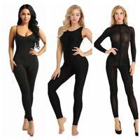 Women's Jumpsuit Romper Bodycon Playsuit Clubwear Long Trousers Sheer Bodysuit