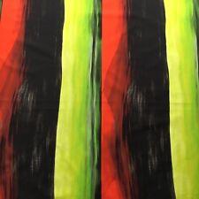 Christian Lacroix / Designers Guild Curtain Fabric TEMPERA 4.95m Red/Black/Lime