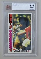 RARE Julius Erving 1976 Topps Beckett BVG 7.5, No. 1 Nets Basketball Card S-7760