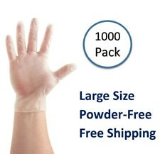[1000 Pieces] Vinal Food Service Gloves Clear Powder Free (Non Vinyl)- Large