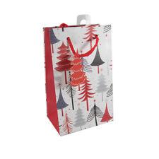 Bolsa De Regalo De Navidad Con Bonito Diseño Rojo/blanco de árbol de Navidad. tamaño 20x12.5cm