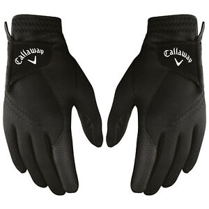 2021 Callaway Mens Thermal Grip Golf Gloves Winter Warm Rain 1 Pair Pack