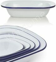 Falcon Enamel Oblong Pie Baking Dish Tin 26cm | eBay