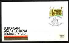 GB 1975 ARCHITECTURE x4 SINGLE VALUE FDCs...VERY GOOD SPECIAL HANDSTAMPS...