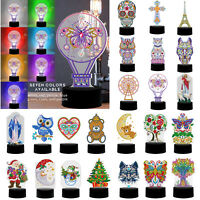 DIY Special Shaped Diamond Painting LED Light Embroidery Night Lamp Home Decor