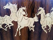 XXL mid century modern Palisander Intarsienbild Pferde Bild 60er 50er rockabilly